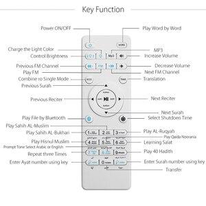 Image 2 - Kuran ı kerim LED ışık ampul kablosuz Bluetooth hoparlör uzaktan kumanda kısılabilir E27 müslüman kuran Reciter FM radyo TF MP3 müzik lamba ampulü