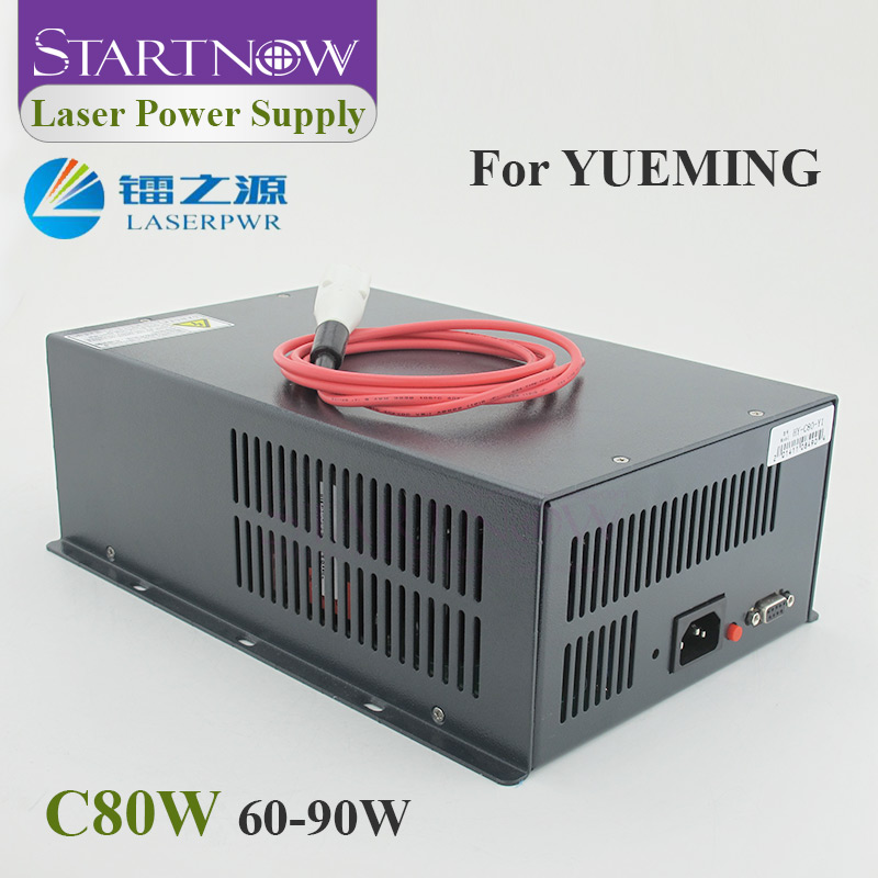 HY-C80 Co2 Laser Power Supply 60-90W High Voltage PSU Generator 110/220V Laser Source For Yueming CMA Co2 Laser Cutting Machine
