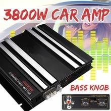 Audio-Amplifier Cars 2-Channel Watt 12V for Subwoofer 3800