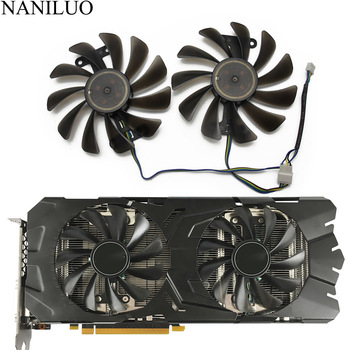 2pcs/lot GTX1070 GTX1070Ti GTX1080 fan For KFA2 GALAXY GeForce GTX 1070 1070Ti 1080 EXOC SNPR Graphics Card cooling replace Fan image