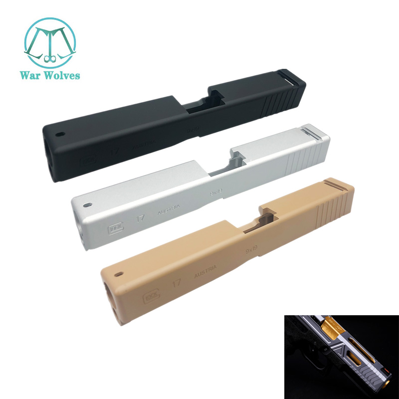 Wargame Outdoor Sports New Metal Slide For G17/P1 CNC Gel Blaster Accessories Upgrated Airsoft Paintball