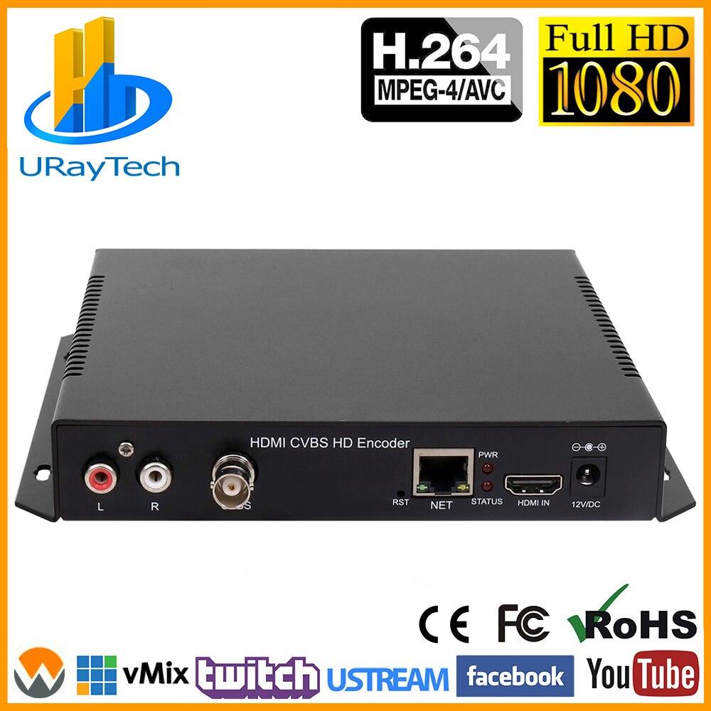 MPEG4 HDMI + CVBS/композитный/BNC + R /L Аудио Видео Аудио кодировщик H.264 IPTV SD HD Потоковое видео RTMP RTMPS кодировщик