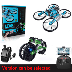 WiFi FPV RC Drone Motorcycle 2 in 1 Foldable Helicopter Camera 0.3MP Altitude Hold RC Quadcopter Motorcycle Drone camera Drones