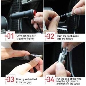 Image 5 - Samochód EL neonowy pasek światła oświetlenie ambientowe samochodu kontrola dźwięku światła RGB dekoracyjne LED Auto atmosfera lampa z 12V zapalniczki