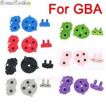 8 cores 1 conjunto d almofada para gba botões condutores de borracha colorida A B d pad para gameboy avanço silicone iniciar selecione teclado dpad