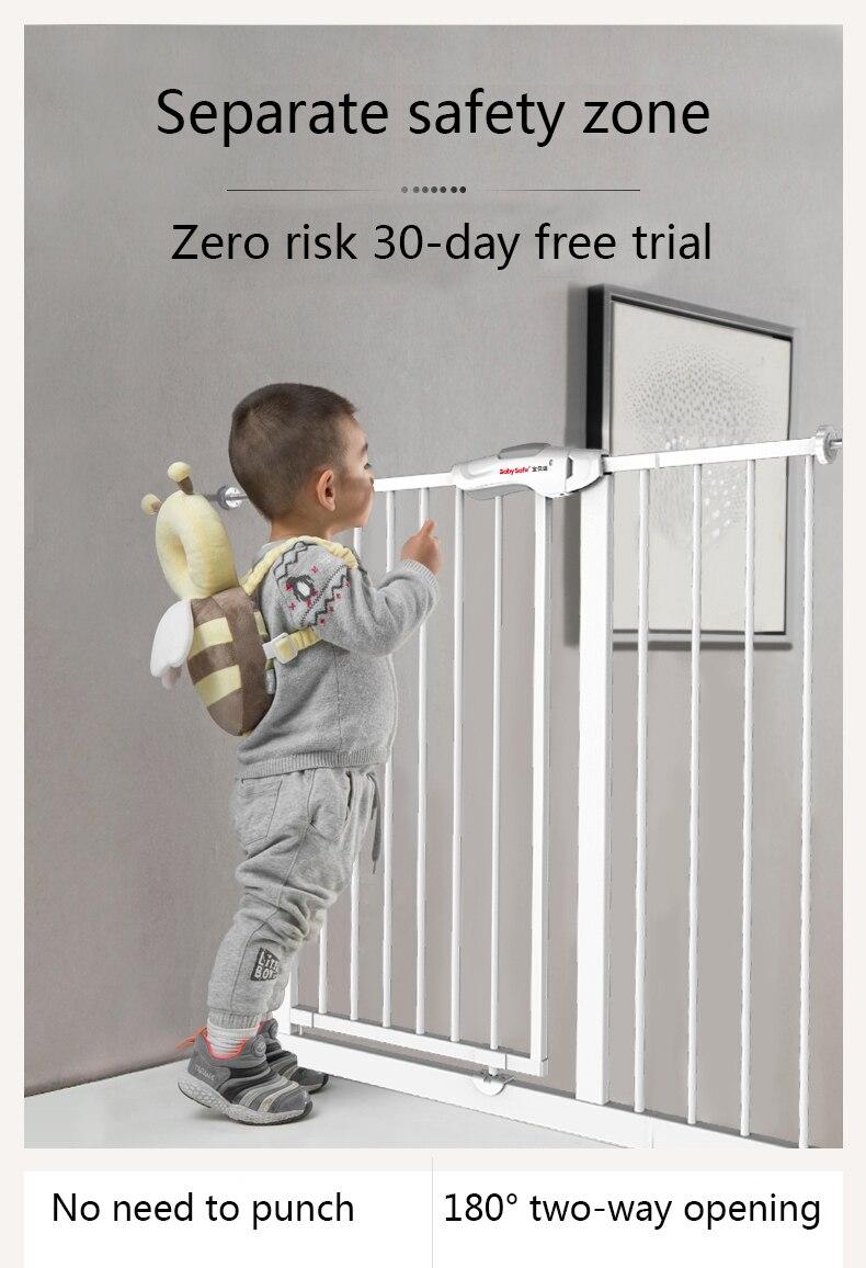 Safety Stairway Gate Toddler Door Stair Fix Baby Pet 80~90 cm Wide Door Fence