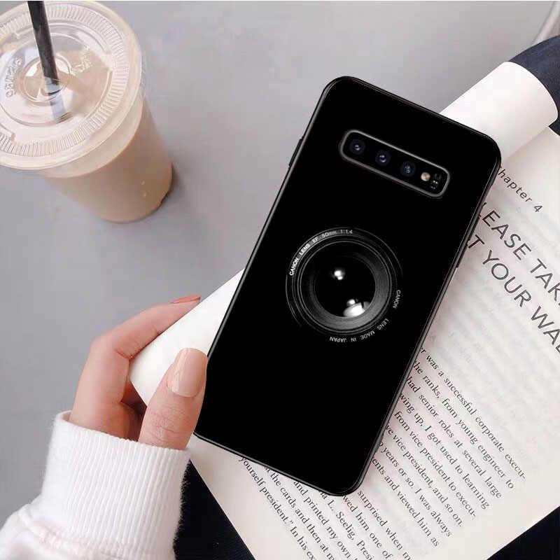 Nbdrucai 카메라 카세트 테이프 게임 콘솔 전화 케이스 커버 삼성 s9 플러스 s5 s6 가장자리 플러스 s7 가장자리 s8 플러스 s10 e s10 플러스