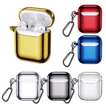 Earphone Case For Airpods 1 2 Cases For Apple Air Pods Cover Earpods Headphone Box Case Protective Skin Cover Accessories