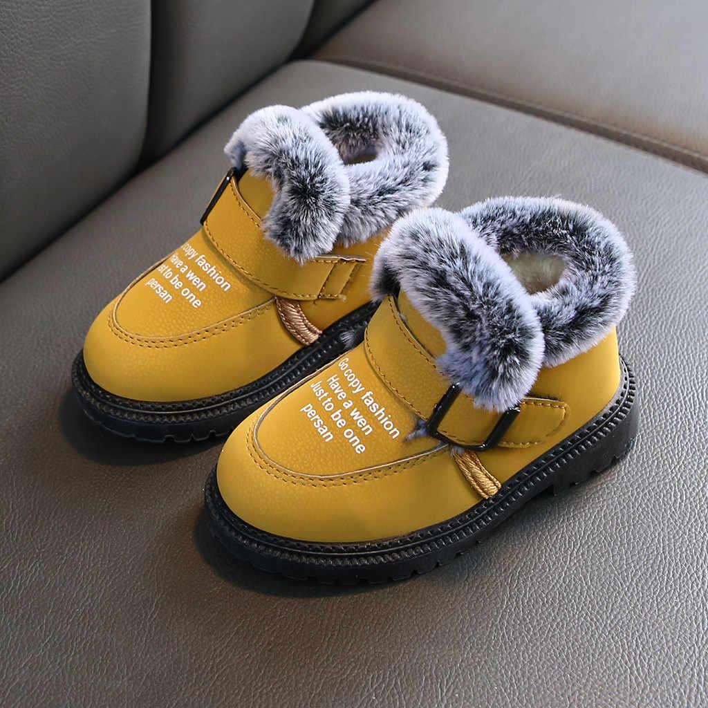 Kids Winter Bevroor Laarzen Meisjes Schoenen Baby Meisjes Jongens Laarzen Enkel Warme Korte Bootie Casual Kids Schoenen Jongenslaarzen Botas Nina