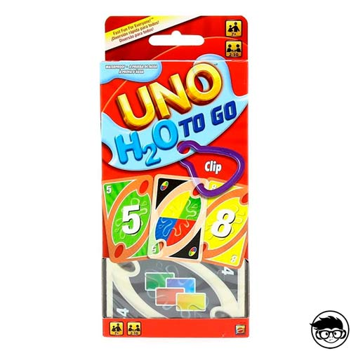 Mattel-UNO H2O To Go H20 Card Game, Multicolor, 7+ (P1703)