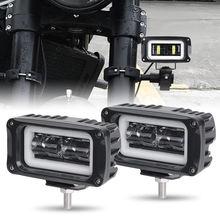 4 Polegada conduziu a luz do trabalho 8d lente quadrada trabalhando luzes de condução para o carro auto motocicleta utv caminhões 4x4 fora da estrada trator lâmpada trabalho