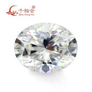 Image 1 - DF GH IJ color white oval shape dia mond cut Sic material moissanites loose gem stone qianxianghui