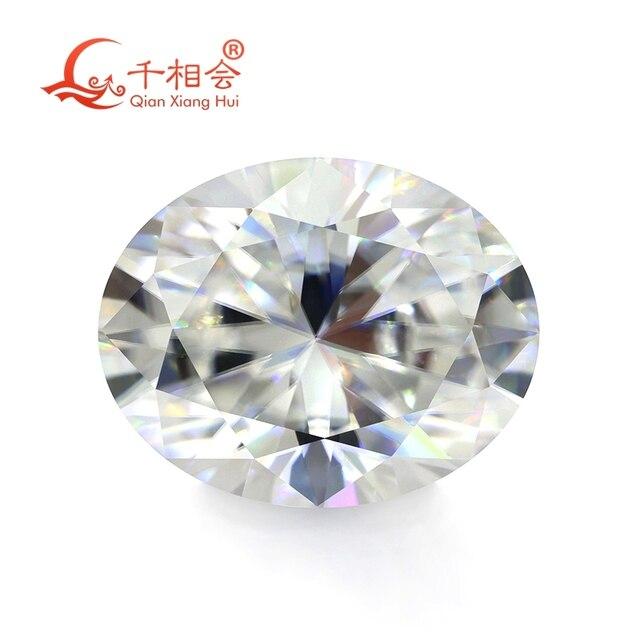DF GH IJ color white oval shape dia mond cut Sic material moissanites loose gem stone qianxianghui