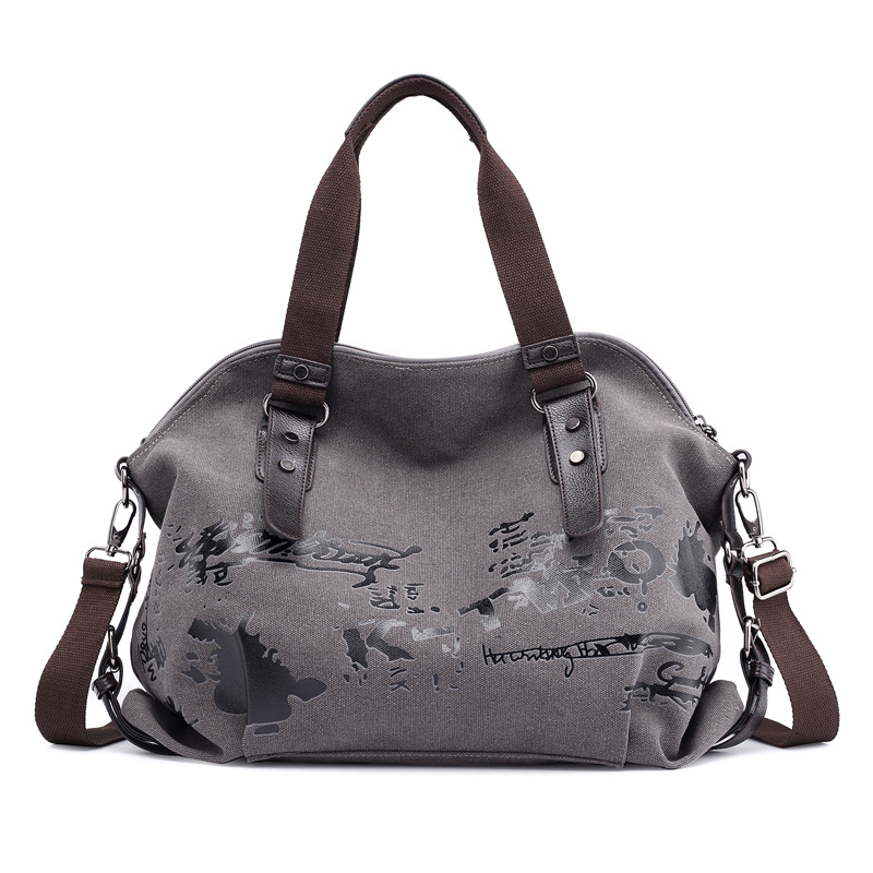 2019 Новый Винтаж цветное граффити Для женщин сумка холст, сумка в руку, женские сумки знаменитая дизайнерская сумка через плечо женская сумк