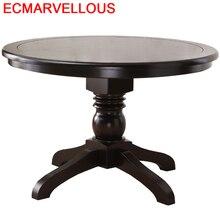 Juego De Comedor Dinning Meja Makan Comedores Mueble Set Tafel Shabby Chic Wooden Round Mesa Desk Tablo Bureau Dining Table