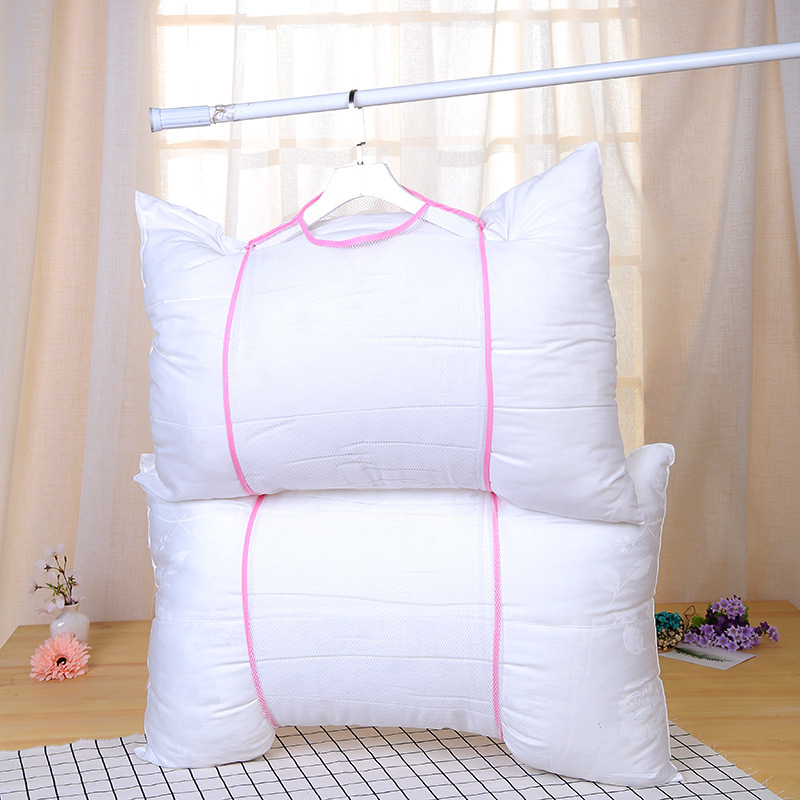 Pillow Storage Hanger For Household Underwear Toys Air Drying Net Sleeve Cover Cushion Windproof Drying Bag Stand Sponge Holder