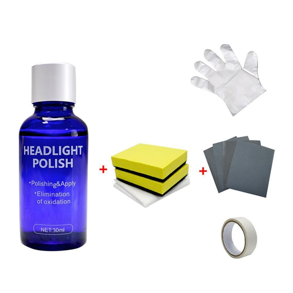 NEW 30ML Oxidation Rearview Coating Headlight Polishing Anti-scratch Liquid Car Headlight Repair Coating Solution Repair Kit