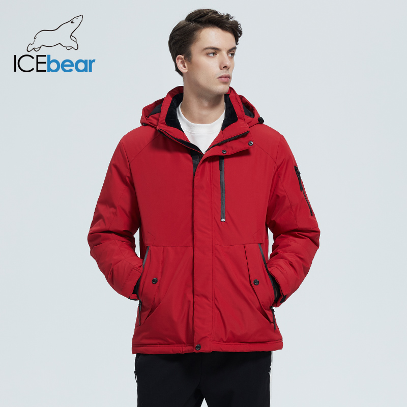 ICEbear 2020 autumn and winter new men's hooded coat warm men's cotton jacket fashion men's clothing MWD20853D 3
