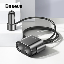 Baseus encendedor divisor 3.1A 100W Dual USB adaptador de cargador de coche para teléfono cargador de coche