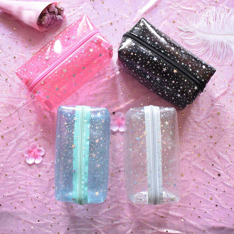 Ladies Travel PVC Travel Cosmetic Bag Case Women Waterproof Zipper Make Up Toiletry Pouch Beauty Storage Organizer Handbag 2019