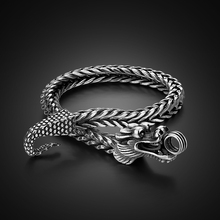 Men Shitai silver bracelet Korean male models 925 sterling silver bracelet coarse Vintage Thai Silver Dragon Bracelet jewelry