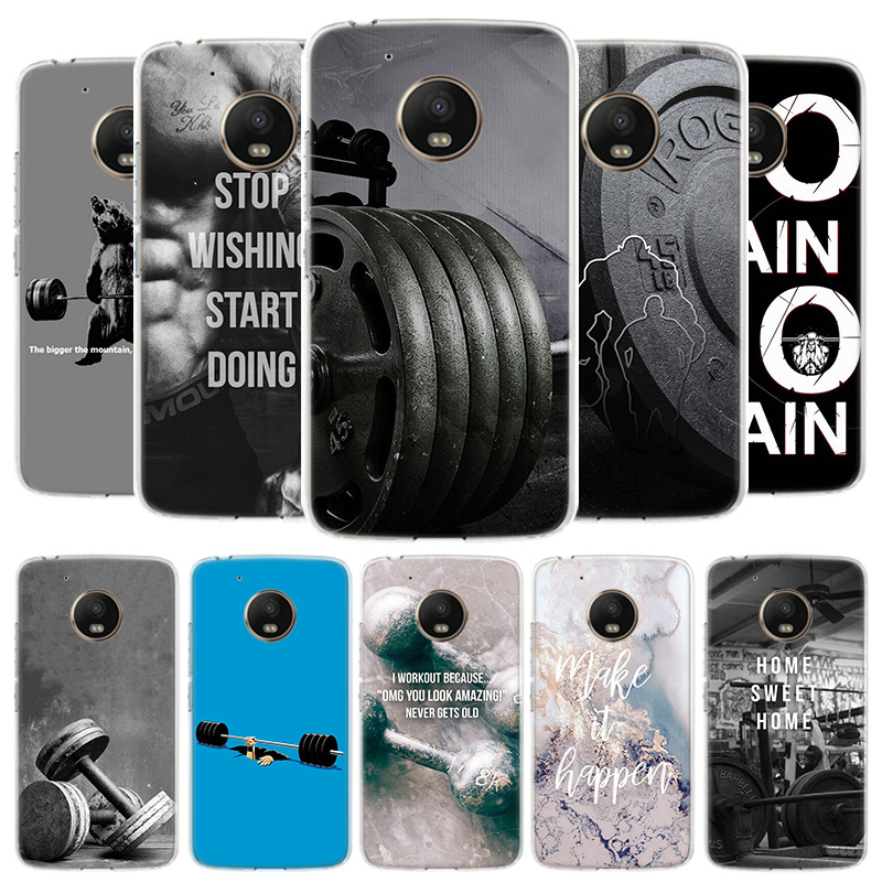 Bodybuilding Gym Fitness Cover Phone Case For Motorola Moto G8 G7 G6 G5S G5 E4 Plus G4 E5 E6 Play Power One Action EU Gift Shell