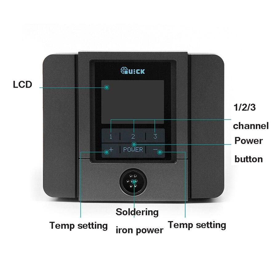 QUICK TS1200A Intelligent Hot Air Rework Station For Phone PCB Soldering Repair 220V EU Plug 3