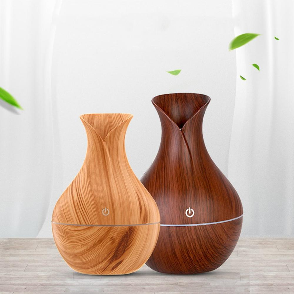 USB Electric Auto Home Steam Humidifier Aroma Anion Car Essential Oil Diffuser Air Freshener Wood Grain Aromatherapy Atomizer