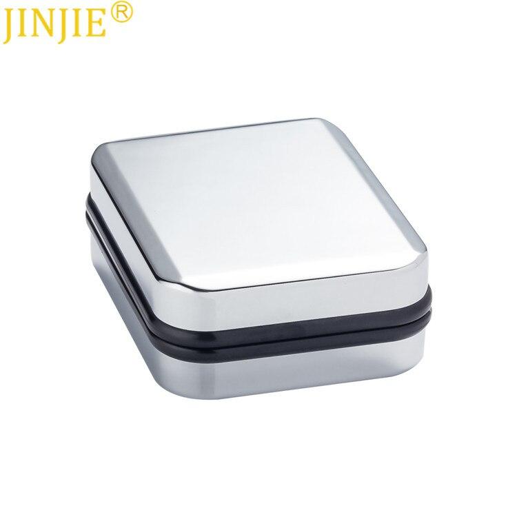Spot High Quality Silver Cufflinks Jewelry Gift Box With Velvet Inside Cufflinks Box Package Cufflinks Box Custom Jewelry Box
