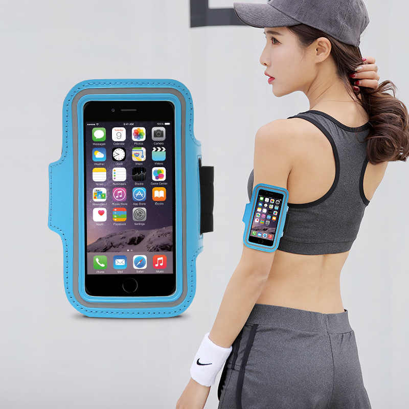 Menjalankan Ponsel Armstrap Olahraga Tangan Lengan Tas Tahan Air Tas Lengan Iphone 7 Kebugaran Peralatan Ban Lengan dan Pergelangan Tangan lengan