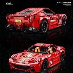 Technic MOC 3571pcs Italian Super-Car F12 458 488 Racing Car Model Building Blocks Brick Toys for Boy christmas gift 42115 42125
