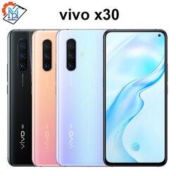Оригинальный Vivo X30 5G мобильный телефон 6,44 дюймов экран 8 ГБ + 128 ГБ Exynos 980 Восьмиядерный Android 9,0 OS 3 камеры 4350 мАч смартфон
