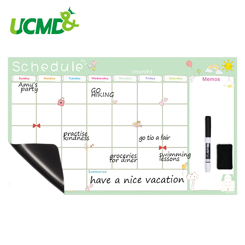 Creative White Board Calendar For Fridge Magnetic Learning Schedule Monthly Planner Table Office Agenda Organizer To-Do List