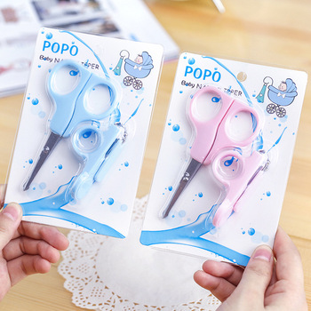 Children's Safety Round Head Scissors Nail Clipper Suit Baby Anti Nipping Nail Scissors School Office Supplies susan kesselring school safety