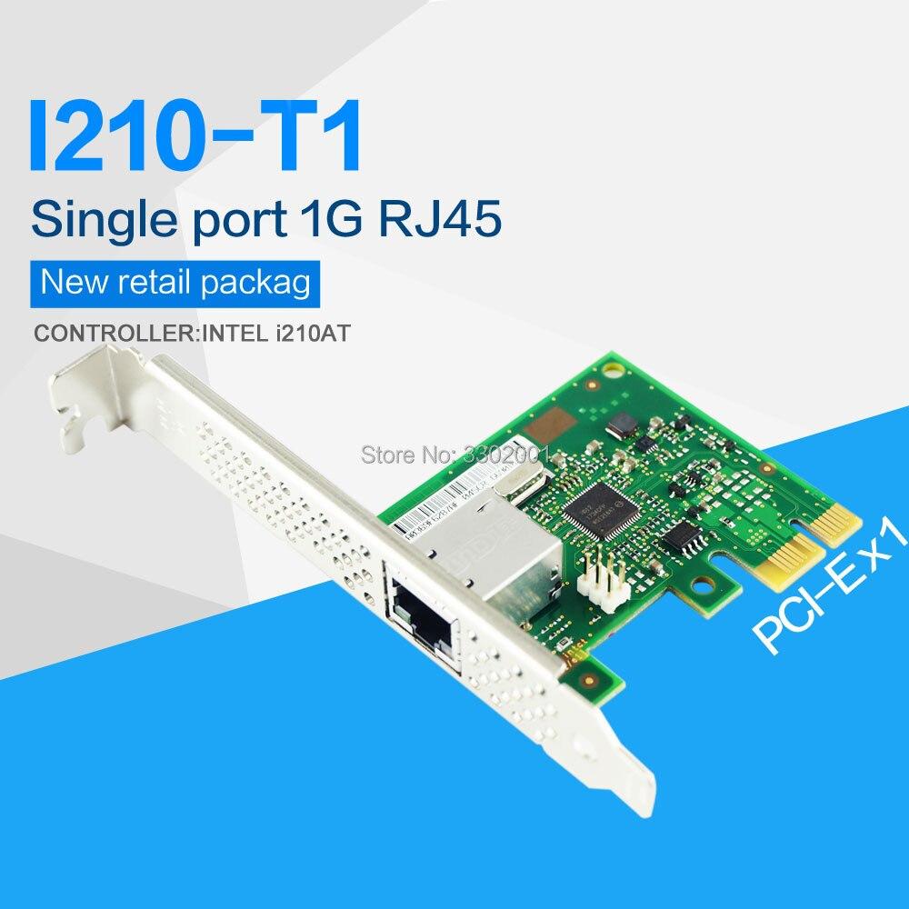 Gigabit Ethernet/Сетевая карта FANMI I210T1, Однопортовый RJ45 PCI Express 2,1x1 контроллер: Intel i210