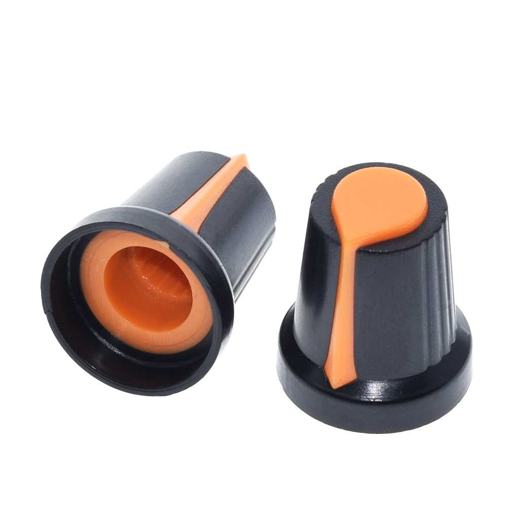 25 pièces/lot WH148 potentiomètre bouton capuchon (noyau de cuivre) 15X17mm 6mm trou d'arbre AG2 jaune Orange bleu blanc rouge 5value * 5 pièces = 25 pièces