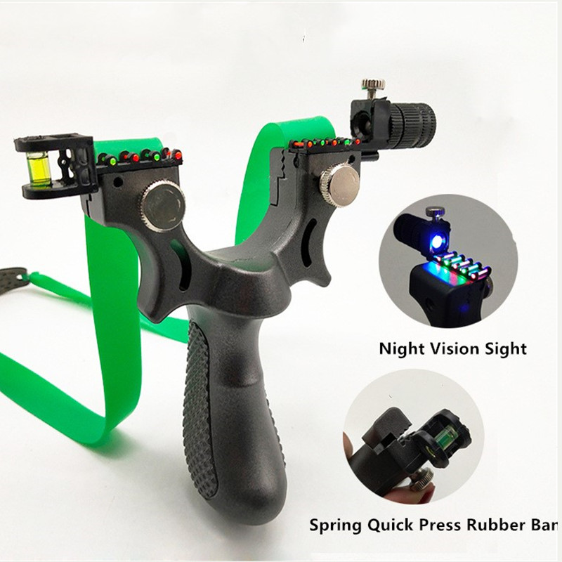 Professional Powerful Hunting Shooting Slingshot Laser Precision Aiming Point And Horizontal Aiming More Accurate Shooting 2019