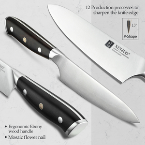 """Image 3 - XINZUO 5"""" inch Utility Knife GERMAN 1.4116 Steel Best Kitchen Knife New Parer Fruit Knife with Ebony Handle Kitchen Accessories"""