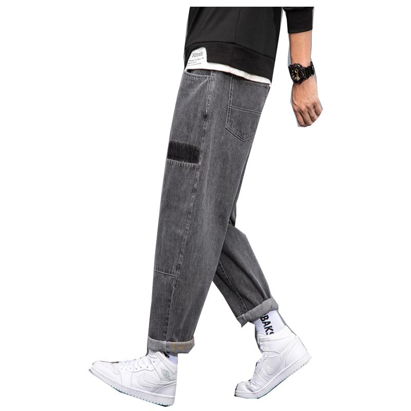 Pantalones vaqueros rectos para hombre, Jeans holgados a la moda para hombre, pantalones de tela vaquera hasta el tobillo para e