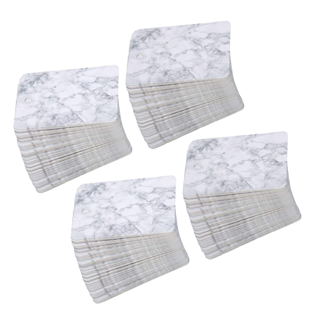 200 Pcs/Set, Marble Pattern Packing Cards For Earrings, Necklaces, Bracelets Display
