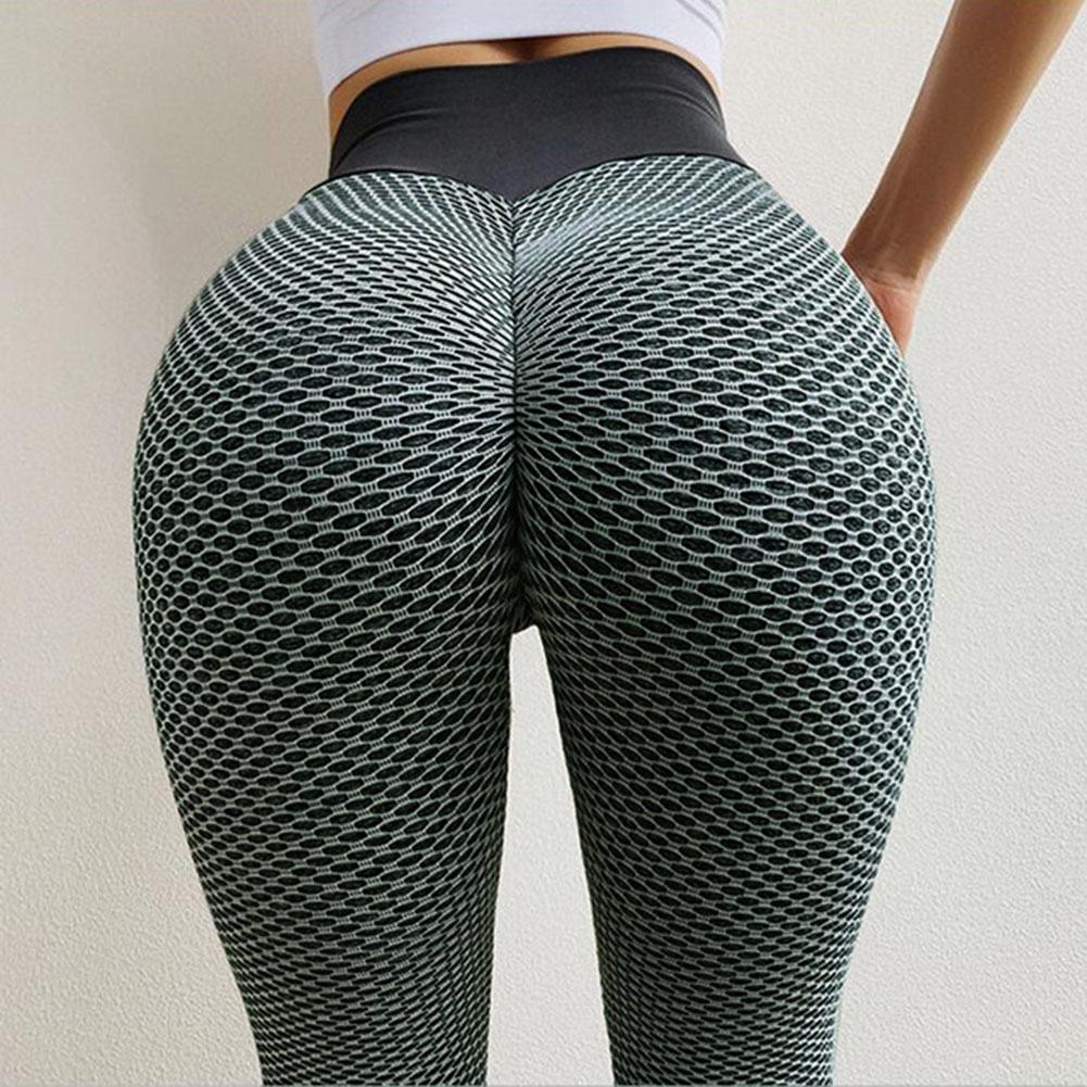 Women Sporty High Waist Elastic Leggings Hip Lifting Skinny Gymnastics Pants Simple In Design Easy Match Top Get Sporty Look