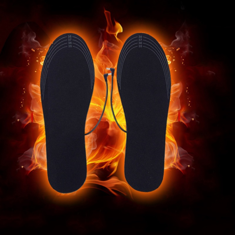Electric Heated Insoles USB Rechargeable Washable Cuttable Shoes Insert Pad Foot Warmer Care Accessory