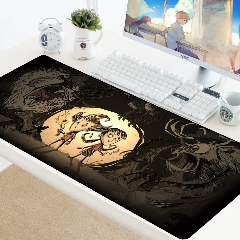 Mousepad Dont Starve Mats For Mouse Keyboard PC Mouse Pad Anime Large Carpet For Mouse Computer Gaming Padmouse Desk Protector