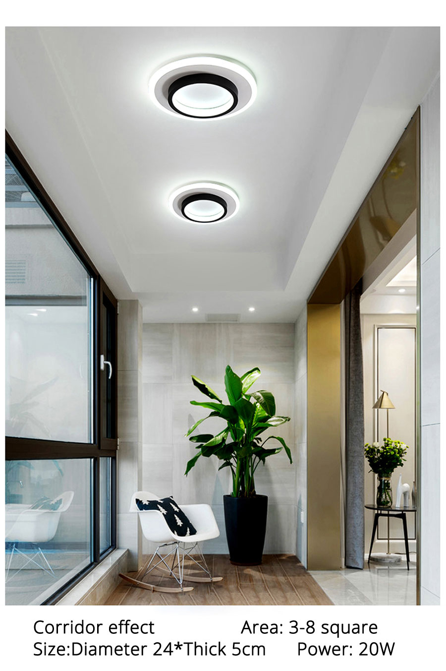 Modern LED Ceiling Lights Round Square Lighting For Bedroom Kitchen Aisle Corridor Indoor Lamps Fixtures Lustres Lampadari Dero