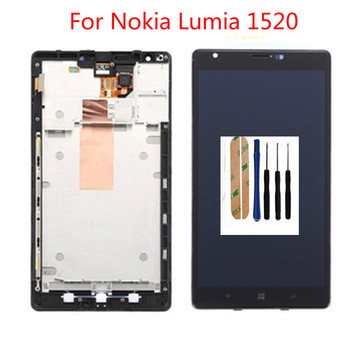 цена на Top quality 100%New LCD For Nokia Lumia 1520 LCD Screen with Touch Screen Display Digitizer Assembly With Frame