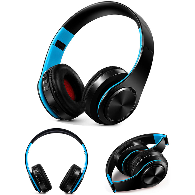 Free Shipping Wireless Bluetooth Headphone Stereo Headset Music Headset Support SD Card with Mic for Mobile Ipad Iphone Sumsamg 1