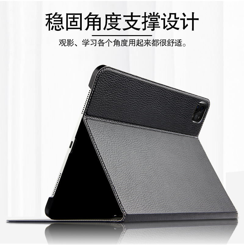 3 Back Smart Shell PC 2 Funda Stand Cowhide A2459 Gen 1 For Cover 2021 Genuine Leather Pro Case Support Hard 11 A2301 IPad 2020