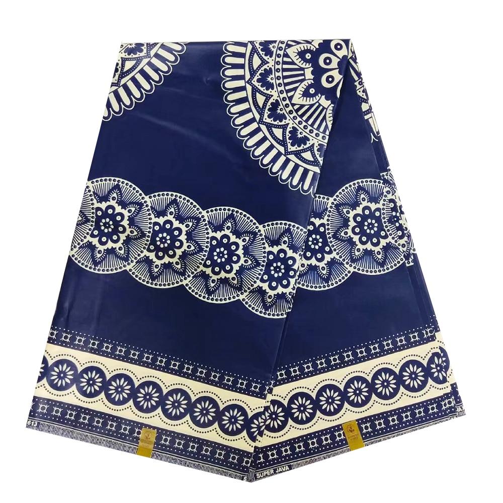 Quality African Wax Fabric For Dress Sewing Super Jave Block Print Cotton Nigerian Ankara SUPER JAVA Print Wax Pange Materials