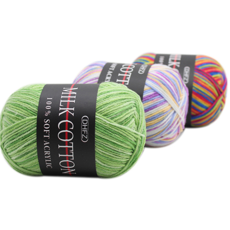 Image 4 - 1pc Melange Yarn Ring Worsted Blended Knitting Yarn for Knitting Colorful Fine Dye 50g/pc-in Yarn from Home & Garden