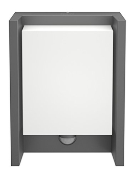 Philips Lighting myGarden Aplique IP44, iluminación exterior, resistente a la humedad y la intemperie, antracita, Applique